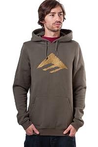 Emerica Herren Sweatshirt Triangle Scratch PO Hood, Fatigue, M, 6130001957
