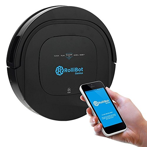 ROLLIBOT GENIUS BL800 - Robotic Vacuum Cleaner. Vacuum's, Sweeps, and Wet Mops Hard Surfaces and Carpet. (Shark Vacumm Filters compare prices)