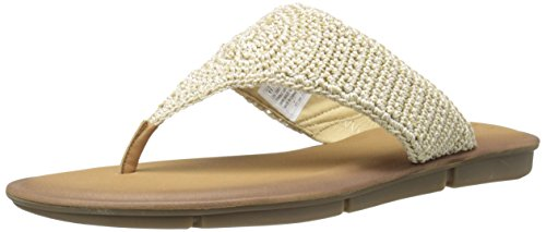 Skechers Cali Women's Indulge 2-Beach Angel Flip Flop, Natural, 9 US/9 B US