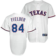 Prince Fielder Texas Rangers Home Replica Jersey by Majestic by Majestic