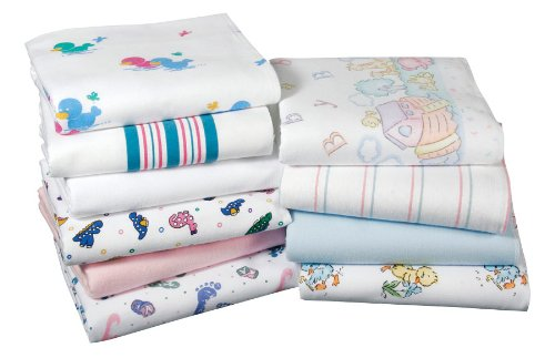 3pk Baby Blankets, Nursery Receiving Blankets (White with Blue Stripe-3pk) - 1