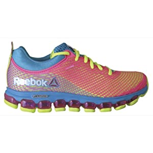 Reebok Women's ZJet Running Shoe,Flight Blue/Solar Yellow/Solar Pink,7.5 M US