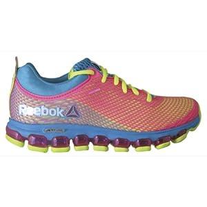 Reebok Women's ZJet Running Shoe,Flight Blue/Solar Yellow/Solar Pink,7.5 M US
