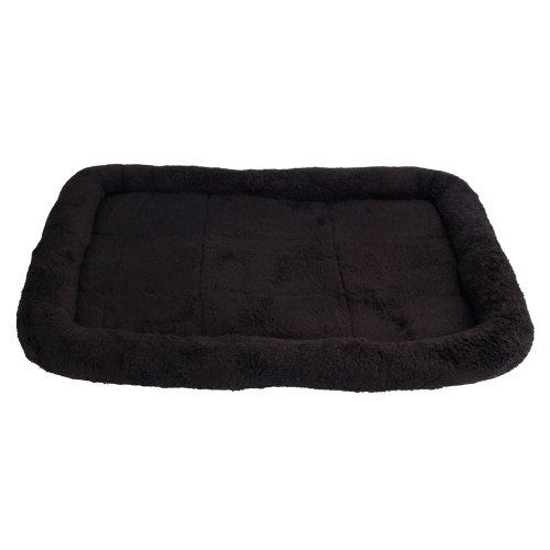 "Ztdm 22.44 X 16.54 X 1.97"" Super Soft Pet Bed Black,Ecorest Recycled Fiber"