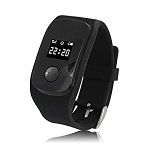 GPS Watch,Facleta GPS Tracker GSM Position GPRS Tracker Smart Watch MIC SOS Smart Watch for Kids Call 3 Family Numbers for The Child The Old(black)