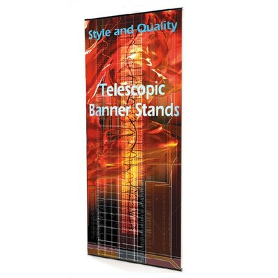 Uno Telescopic Banner Stand Width: 48""