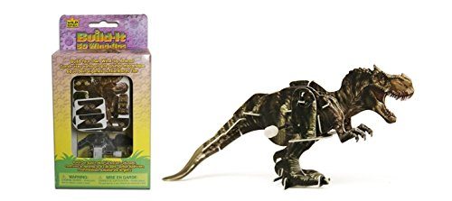 Wild Republic Build-it 3d Wind-ups T-rex Model Kit