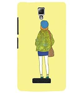 LENNOVO A2010 COLLEGE GIRL Designer Back Cover Case By PRINTSWAG