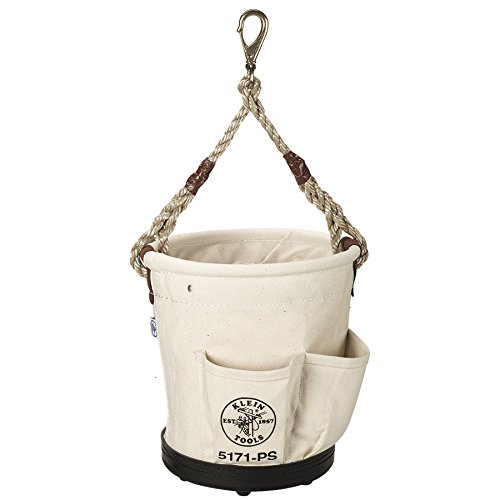 Klein Tools 5171PS Heavy-Duty Tapered-Wall Bucket with 4 Outside Pockets