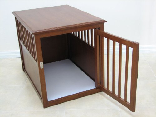 Crown Pet Products Crown Pet Crate Table With Mahogany Finish Medium