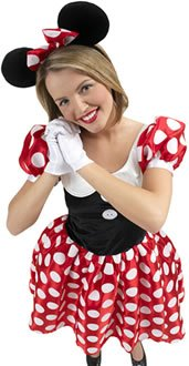 Disney Minnie Mouse Licensed Ladies Fancy Dress Costume