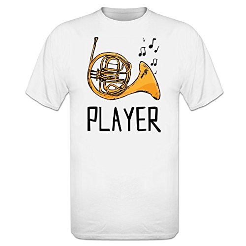 French-Horn-Player-Illustration-T-Shirt-by-Shirtcity