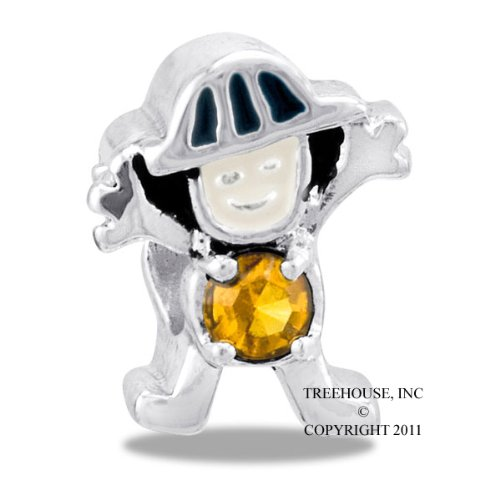 DaVinci November Boy Birthstone Bead