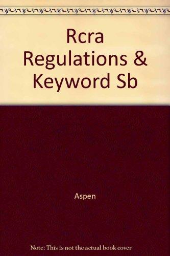 2001 Rcra Regulations & Keyword Index