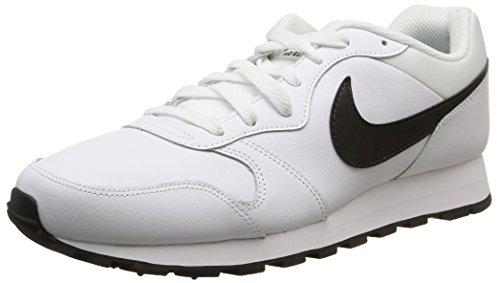 Nike Md Runner 2 Leather, Scarpe sportive, Uomo, Multicolore (White/Black), 41