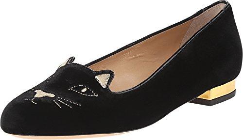 charlotte-olympia-womens-kitty-flats-black-gold-velvet-metallic-calf-flat-395-m