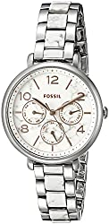 Fossil Women's ES3939 Jacqueline Multifunction White Stainless Steel Watch