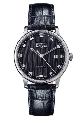 Davosa - 16151355 - Montre Homme - Automatique - Analogique - Bracelet Cuir Noir