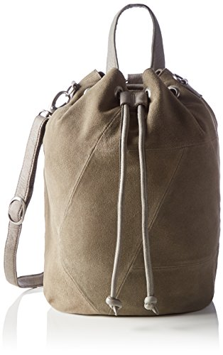 PIECES Pcbianca Suede Tighten Backpack, Borsa a Zainetto Donna, Grigio (Elephant Skin), 25x38x21 cm (B x H x T)