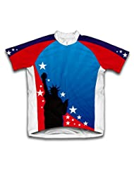 Lady Liberty Short Sleeve Cycling Jersey for Women