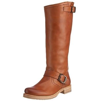 FRYE Women's Veronica Slouch Boot,Cognac,5.5 M US