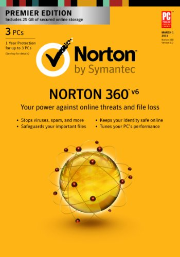 Norton 360 6.0 Premier - 1 User / 3 PC [Download] [Old Version]