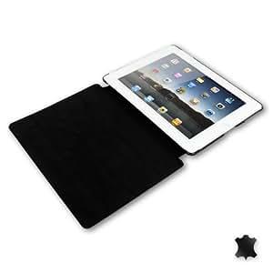 Manna Cowboy iPad2 Smart Cover mit Sleep Funktion aus Echtleder | Manna Cowboy iPad2 Case aus Wildleder Schwarz