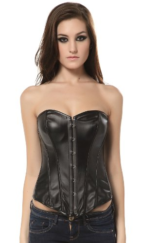 [Clothing & Accessories] Ivy Shi Womens Faux Leather Overbust Corset Black Medium   amazon.coms service   41RySU%2BqiZL