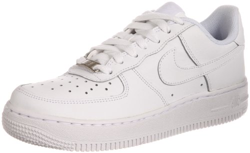 Nike Unisex-Adult Air Force 1 Gs White Leather Fashion-Sneakers 6 Us 6 M US