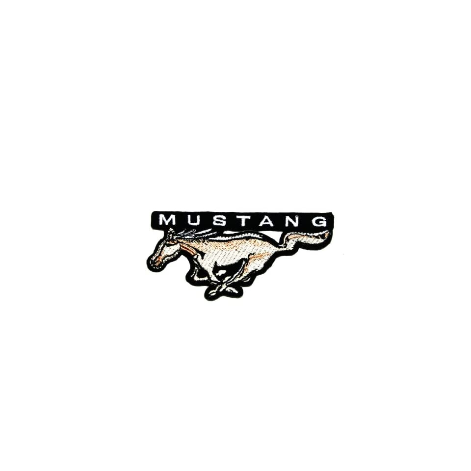 Ford Mustang Motorsport Car Racing Team Clothing Polo Jacket Shirt Embroidered Iron on Patch