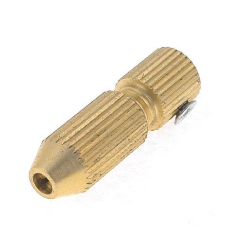 Water & Wood Gold Tone Brass 2.3Mm Motor Shaft 1.1-1.5Mm Mini Electric Drill Chuck