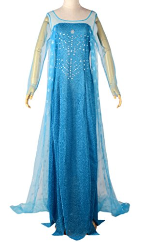 Eyekepper Cosply Snow Queen Elsa Dress Costume Adult