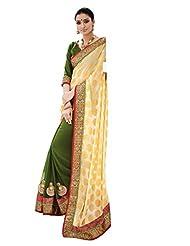 Beautiful Fancy Jacquard Multi-Coloured Saree With Blouse