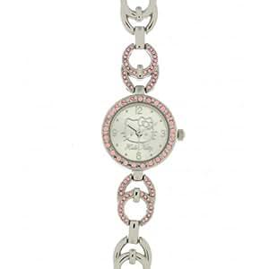 Hello Kitty - 4404901 - Montre Fille - Quartz Analogique - Cadran Argent - Bracelet en Métal