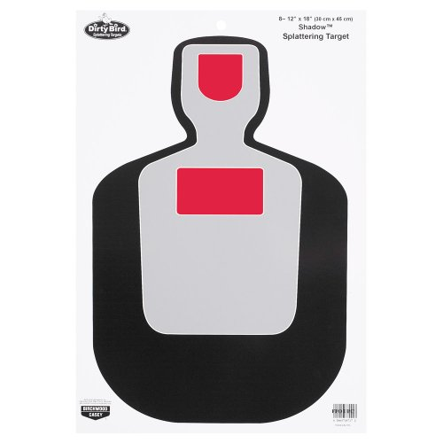 Birchwood Casey Dirty Bird BC19 Shadow Target (Pack of 8), 12x18-Inch, Black