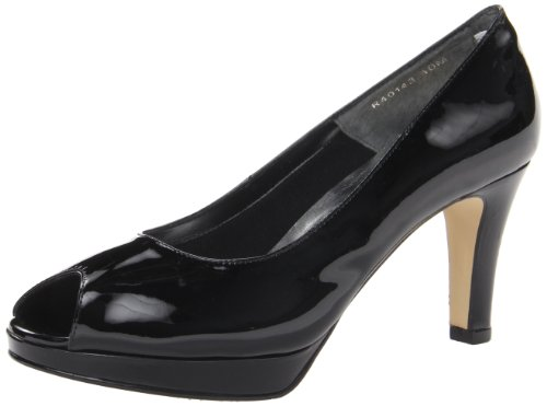 Walking Cradles Women's Prom Platform Pump,Black Patent,11 W US