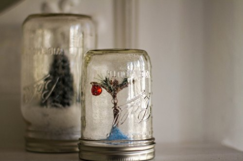 Mason Jar Snow Globe - Tree with Ornament (Pint Size) Inspired by Charlie Brown Christmas