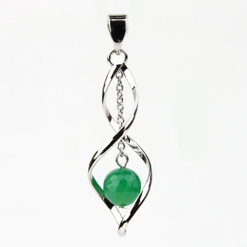 Pendant made of Jade cut in 10 mm beads