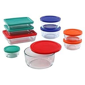 "18-Pc Storage Plusâ""¢ Colored Lid Set"