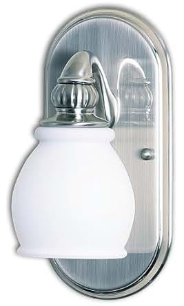 Vanity Lights Wattage : Checkolite 9610-71 Price Pfister Treviso 60-Watt 1-Light Vanity, Brushed Nickel - Vanity ...