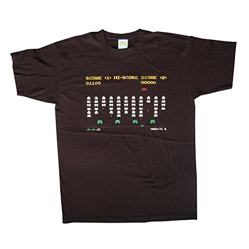 Space Invaders Battle T-Shirt - Black (Medium)