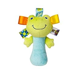 Taggies See Me Zoo Rattles, Frog Plush Stuffed Animal Toy Baby Gift