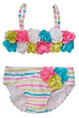 Kate Mack Baby-Girl's Infant Garden Stripe Bikini in Multi