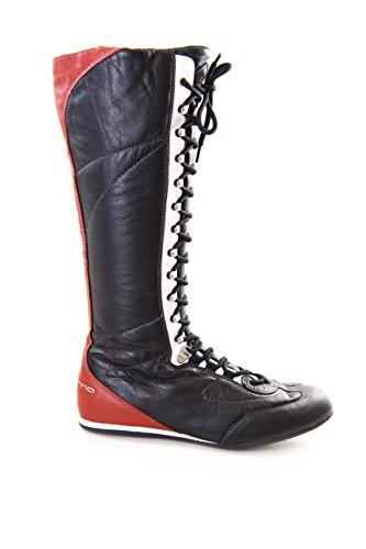 Fornarina stivali vintage in pelle con stringhe e zip mod. PIFLI3743WC EU 38