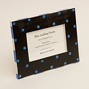 Black and Blue Polka Dot Picture Frame