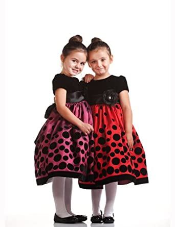 Black Dress on Red And Black Polka Dot Christmas Dresses   Holiday Or Party Dress