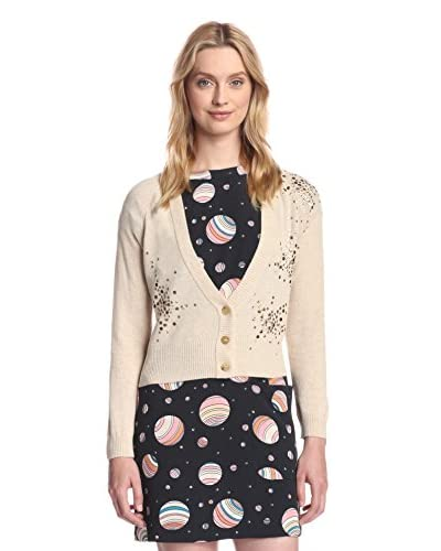 See by Chloé Women's Studded Cardigan  [Beige/Bronze]