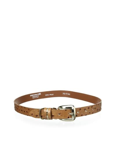 Bergè Women's Ostrich Leather Belt