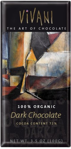 Vivani Organic Chocolate Bars, Dark Chocolate, 3.5-Ounce Bars (Pack of 10)