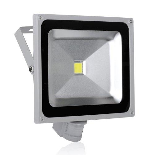 50W Led Pir Motion Sensor Floodlight Ip65 Cool White New Induction Lamp 240V